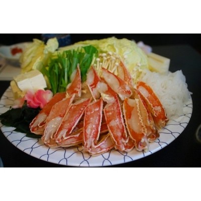 簡単蟹料理セット 2〜3人前 ズワイガニ3枚(6肩)特製かにみそ・だし付