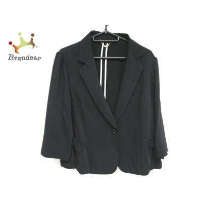 ローズティアラ Rose Tiara ジャケット サイズ42 L レディース 美品 - 黒 七分袖/リボン/春/秋 新着 20201224