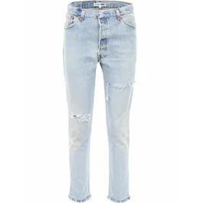 RE/DONE レディースデニム RE/DONE High Rise Jeans INDIGO|Blu