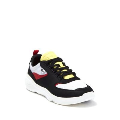 ラコステ メンズ スニーカー シューズ Wildcard 319 Sneaker BLACK/RED