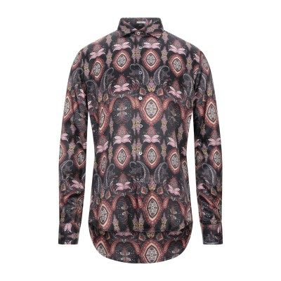 OGNUNOLASUA by CAMICETTASNOB シャツ ブラック 40 レーヨン 63% / シルク 37% シャツ