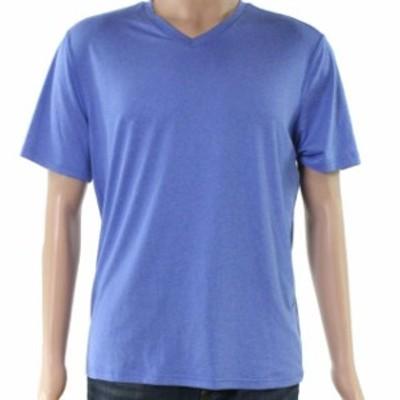 HEATHER  ファッション トップス 32 Degrees NEW Heather Blue Mens Size XL V Neck Short Sleeve T-Shirt