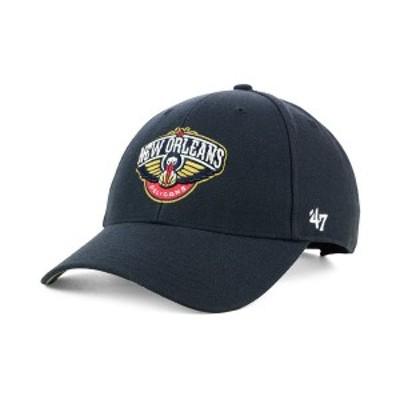 47ブランド メンズ 帽子 アクセサリー New Orleans Pelicans Team Color MVP Cap Navy
