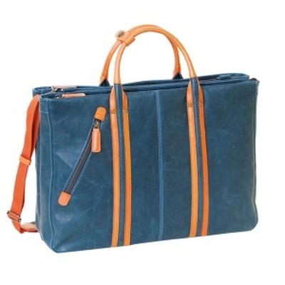 最大1000円OFFクーポン ブリーフケース ビジネスバッグ メンズバッグ メンズビジネス鞄 ヴィンテージ 三層式 メンズ 23-5459 ブルー 82