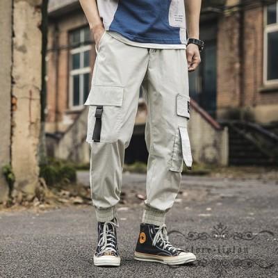 メンズ サルエルパンツ ポケット付き スポーツ スウェット メンズ パンツ ジョガーパンツ 薄手 カジュアル 細身