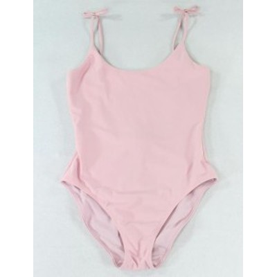 BAKER  スポーツ用品 スイミング Ted Baker Womens Pink Size 6 (2) One-Piece Tied-Straps Solid Swimwear