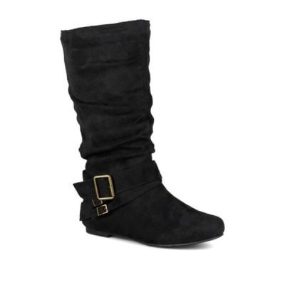 ジャーニーコレクション レディース ブーツ&レインブーツ シューズ Shelley Buckle Slouchy Boot BLACK