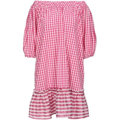 G!NA ミニワンピース&ドレス フューシャ 40 コットン 64% / ナイロン 33% / ポリウレタン 3% / 合成繊維 / シルク ミニワ