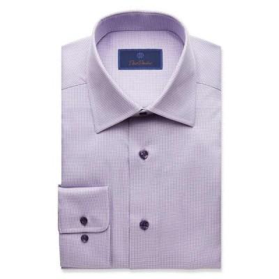デビッドドナヒュー David Donahue メンズ シャツ トップス Regular Fit Micro Tonal Tic Dress Shirt Purple