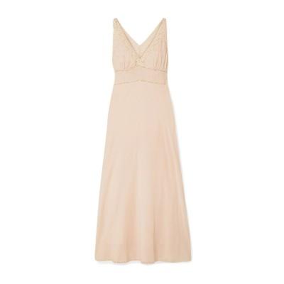 MES DEMOISELLES ロングワンピース&ドレス ライトピンク 34 コットン 73% / レーヨン 27% ロングワンピース&ドレス