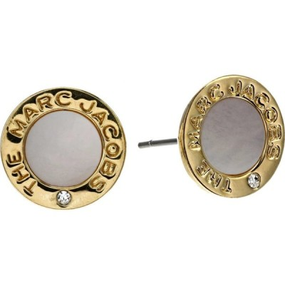 マーク ジェイコブス Marc Jacobs レディース イヤリング・ピアス ジュエリー・アクセサリー The Medallion Mother-of-Pearl Earrings Mother of Pearl/Gold