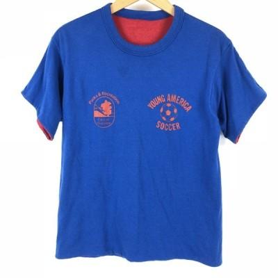 【古着】 リバーシブルTシャツ YOUNG AMERICA SOCCER ヴィンテージ ブルー系 メンズS 【中古】 n005019