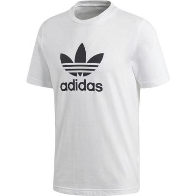アディダス adidas メンズ Tシャツ トップス Originals Trefoil Tee White/Black