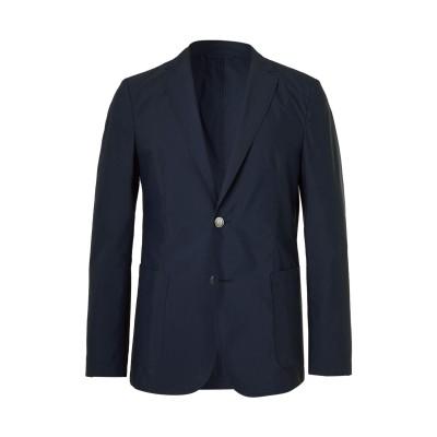 BOSS HUGO BOSS テーラードジャケット ダークブルー 46 コットン 53% / ポリエステル 47% テーラードジャケット