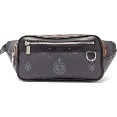 ベルルッティ Berluti メンズ ショルダーバッグ バッグ Crest-Logo Leather Cross-Body Bag Black