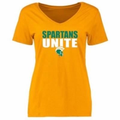 Fanatics Branded ファナティクス ブランド スポーツ用品  Norfolk State Spartans Womens Gold Unite T-Shirt