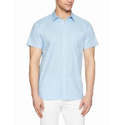 Calvin Klein カルバンクライン ファッション アウター Calvin Klein Mens Clear Sky Blue Size Medium M Textured Button Up Shirt