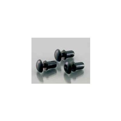 キタコ K-CON ナイロンリベット 5 × 6.5/ φ 5.1 穴用 3.5 〜 4.5mm A2.2 B9 C6.5 D5 / 6.1 3個入り 0900-005-01030