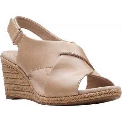 クラークス Clarks レディース サンダル・ミュール ウェッジソール シューズ・靴 Lafley Alaine Wedge Sandal Sand