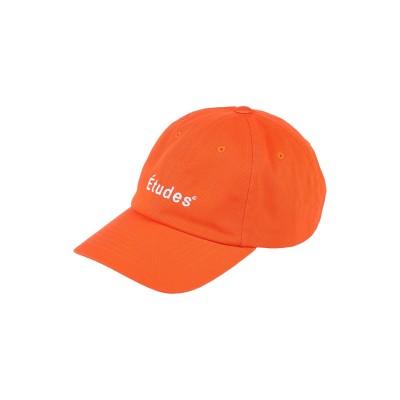 ÉTUDES 帽子 オレンジ one size コットン 100% 帽子