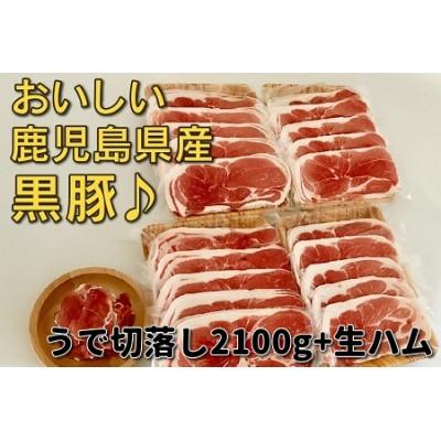 鹿児島黒豚ウデ切落し2.1kg 生ハム100g付
