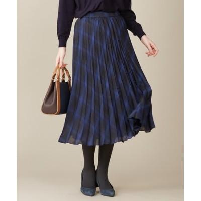 【洗える】シアーチェックライト スカート