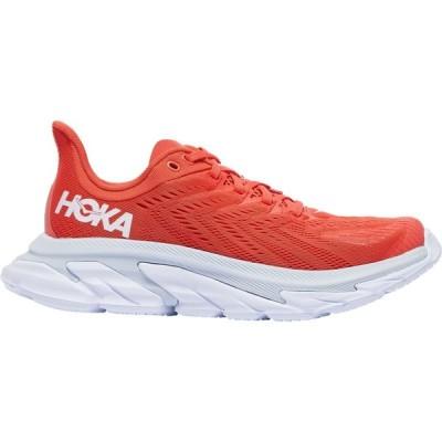 ホカ オネオネ HOKA ONE ONE レディース ランニング・ウォーキング シューズ・靴 Clifton Edge Hot Coral/White
