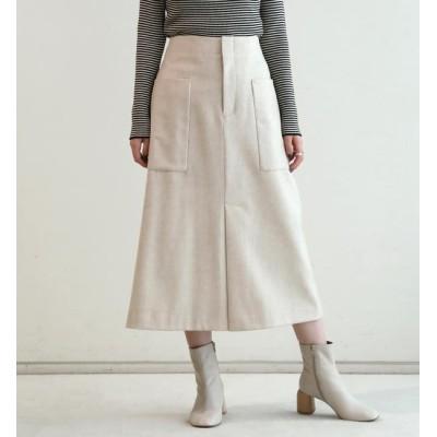 【トゥモローランド/TOMORROWLAND】 ウールフランネル トラペーズスカート