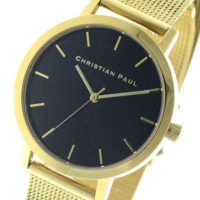 クリスチャンポール CHRISTIAN PAUL 腕時計 レディース クォーツ RBG3521 ロウ RAW ブラック ゴールド