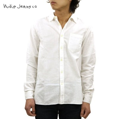 ヌーディージーンズ シャツ メンズ 正規販売店 Nudie Jeans 長袖シャツ ワークシャツ HENRY LONG SLEEVE SHIRT OFFWHITE W04 140426