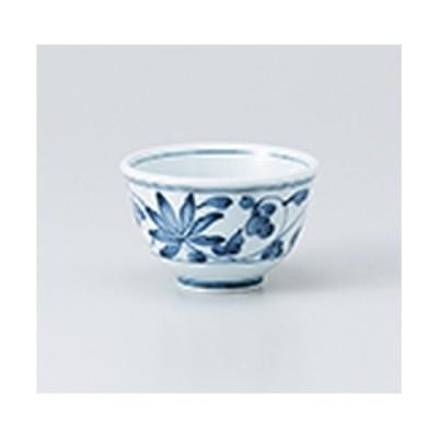 千茶 和食器 / 唐草厚口反千茶 寸法:9 x 6cm ・ 180cc