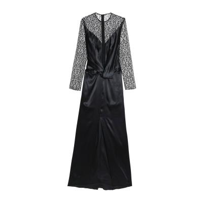 NINA RICCI ロングワンピース&ドレス ブラック 34 レーヨン 70% / シルク 30% / ナイロン ロングワンピース&ドレス
