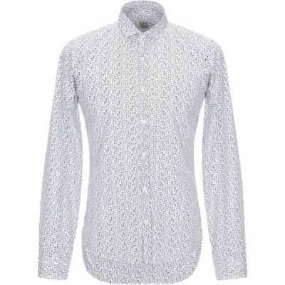 GMF 965 メンズ シャツ トップス Patterned Shirt White