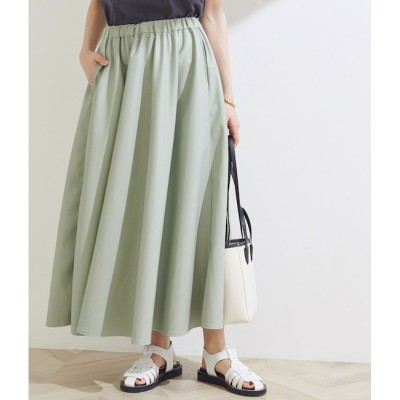 【マドモアゼル ロペ/MADEMOISELLE ROPE'】 【ROPE'】エコレザーギャザースカート