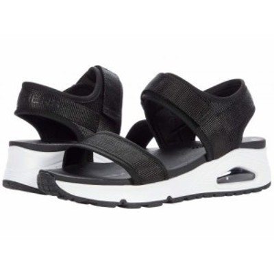 SKECHERS スケッチャーズ レディース 女性用 シューズ 靴 サンダル Uno New Sesh Black/White【送料無料】