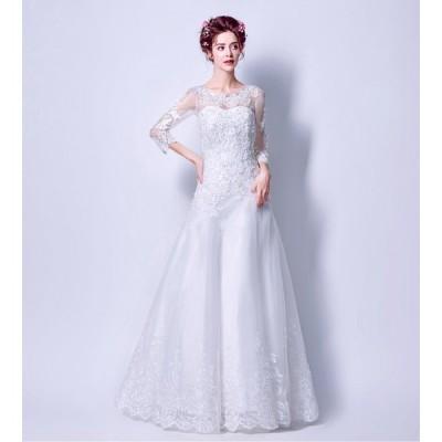 パーティードレス ウエディングドレス レディース 披露宴 ブライダル 上品な 花嫁ドレス オシャレ  演奏会ドレス 素敵な 発表会ドレス