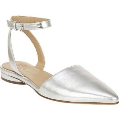 ナチュラライザー Naturalizer レディース スリッポン・フラット アンクルストラップ シューズ・靴 Hartley Ankle Strap Flat Silver