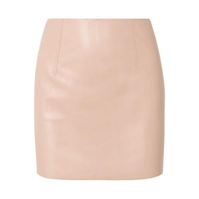 BLOUSE ミニスカート ピンク 14 革 100% ミニスカート