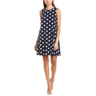 ジェシカハワード レディース ワンピース トップス Jessica Howard Shift Dress navy and ivory polka dot