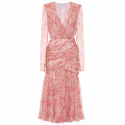 ジャンバティスタ バリ Giambattista Valli レディース ワンピース ミドル丈 ワンピース・ドレス Floral silk midi dress Perl/Primrose/