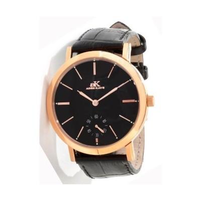 Adee Kaye #AK7236-MRG Men's Antigo Colection Manual Winding Mechanical Leather Strap Watch 並行輸入品