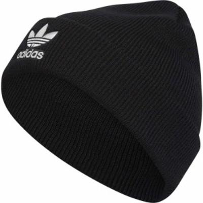 アディダス adidas メンズ ニット ビーニー 帽子 Trefoil Beanie Black/White