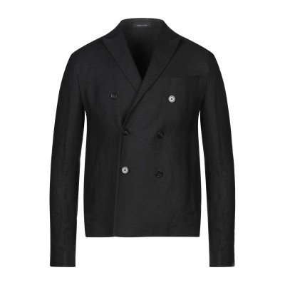 エンポリオ アルマーニ EMPORIO ARMANI テーラードジャケット ブラック 46 麻 100% テーラードジャケット