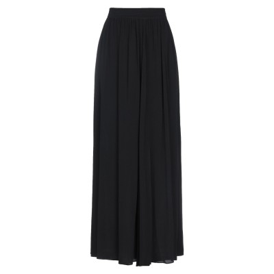 CARACTÈRE ロングスカート ブラック 40 レーヨン 100% ロングスカート