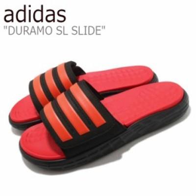 アディダス スリッパ adidas DURAMO SL SLIDE デュラモ エスエル スライド ORANGE BLACK FY8787 シューズ