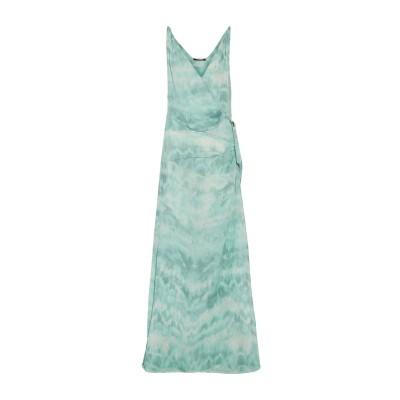 ロベルト カヴァリ ROBERTO CAVALLI ロングワンピース&ドレス ターコイズブルー 40 シルク 100% ロングワンピース&ドレス