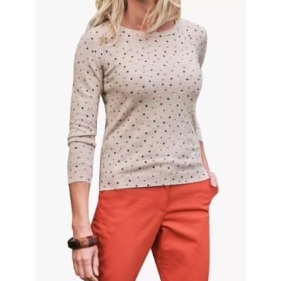 ピュアコレクション ニット&セーター レディース アウター Pure Collection Spot Print Cashmere Jumper, Multi