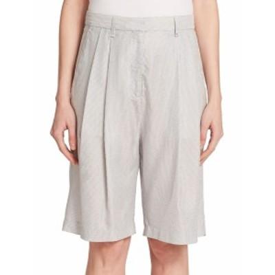 ラグ&ボーン レディース パンツ Hemstead Striped Silk & Cotton Bermuda Shorts