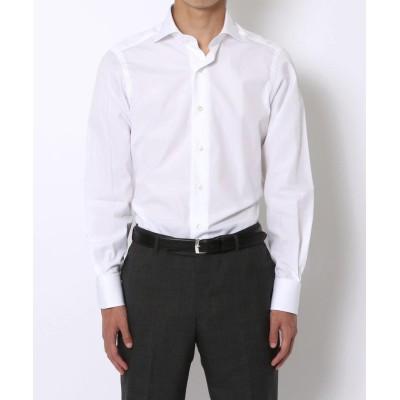 【トゥモローランド】 140/2コットンブロード ワイドカラー ドレスシャツ メンズ ホワイト 38 TOMORROWLAND