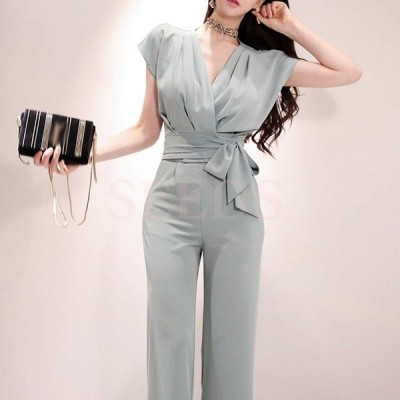 セットアップ レディース 夏 韓国風 半袖 ビジネススーツ オフィス 40代 30代 上下セット リボン ズボン オシャレ カジュアル きれいめ 通勤 OL 上品